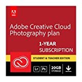 Adobe Creative Cloud Photography plan (Photoshop CC + Lightroom) Student and Teacher (Download) - Validation Required
