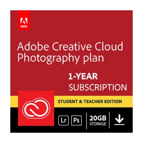 Adobe Creative Cloud Photography plan (Photoshop CC + Lightroom) Student and Teacher (Download) - Validation Required (Adobe Cs6 Design Standard Student And Teacher Edition)