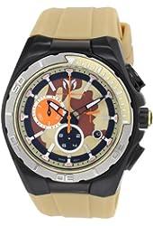 TechnoMarine Men's 110072 Cruise Steel Camouflage Chronograph Sand Camouflage Dial Watch