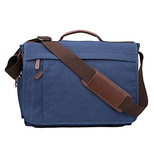 Mens Crossbody Blau Inch Canvas Work Sport Bag Bags Bag Bags Messenger Bag Shoulder Business 14 by Women Niceeday Men Shoulder Bag Bag Laptop 17 Travel M SpvP6qvO