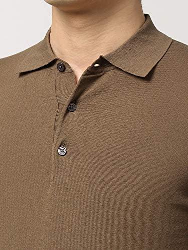 (ザ・スーツカンパニー) ウォッシャブル/WE SUIT YOU/コットンブレンド レギュラーカラーニットポロシャツ ブラウン