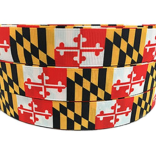 Route One Apparel | Maryland Flag Decorative Ribbon (100 Yards, 1/2 Inch Ribbon) by Route One Apparel (Image #2)