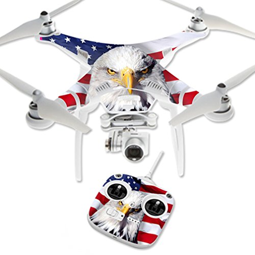 Mightyskins Mightyskins Protective Vinyl Skin Decal for Dji Phantom 3 Standard Quadcopter Drone Wrap Cover Sticker Skins America Strong, 0.1 Pound