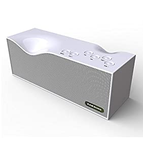 Bluetooth Speakers, Portable Wireless Stereo Speaker with Built-in Microphone Support Hands-free Function, FM Radio, 2x5W Acoustic Drivers, 12 Hours Playtime(White)