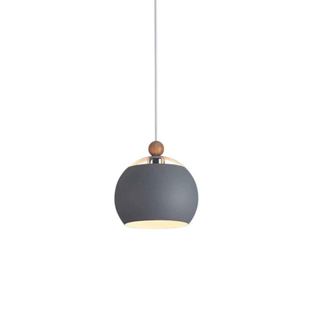 AEXU Exquisit Kronleuchter Nordic Minimalist Restaurant Macarons Farbe Kronleuchter Studio Cafe Bar Deckenleuchte Lampe E27 (Farbe  Grau-Durchmesser 30cm)
