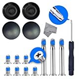 MMOBIEL 4 x Rubber Case Feet pad Set with 10 x Bottom Base Screws and P5 Screwdriver Kit Set for MacBook Pro A1278 A1286 A1297 13, 15 and 17 inch(Not for Retina Display) incl. Cleaning Cloth