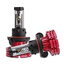 NIGHTEYE H13 LED Headlight Bulbs - 60W 10000LM (3000K 6500K 8000K) Hi/Lo Beam - 2 Year Warranty