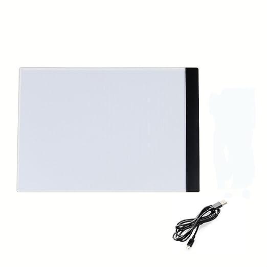 A4 LED mesa luminosa 5 mm ultramince Tablet Dibujo luminosa Pad ...