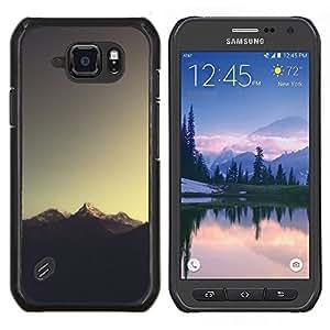 TECHCASE---Cubierta de la caja de protección para la piel dura ** Samsung Galaxy S6 Active G890A ** --Sugerencia Montaña