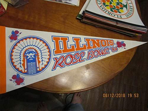 - 1984 Rose Bowl Illinois Football Pennant