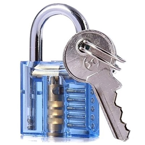 Happy Will vidrio Professional Cutaway visible de candados Lock para cerrajero/hobbyist, Transparente
