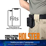 """Tactical Cell Phone Holster, 5.8"""" Belt Pouch with"""