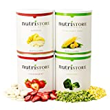 Freeze-dried Fruit and Veggie 160 serving Sample Pack by Nutristore