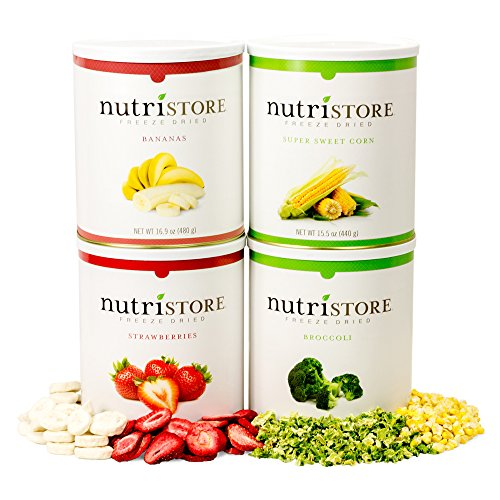 Freeze-dried Fruit and Veggie 160 serving Sample Pack by Nutristore by Nutristore