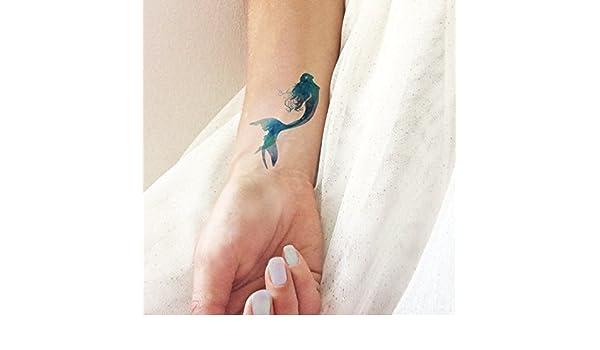 Sirena acuarela - Tatuajes temporales: Amazon.es: Handmade