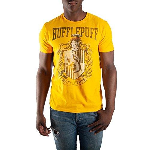 Harry Potter Hufflepuff House Crest Mens Yellow Hogwarts T-Shirt ()