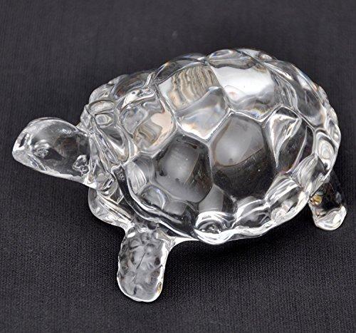 (Petrichor Fengshui Vastu Original Clear Crystal Turtle for Peace & Prosperity ((Small)))