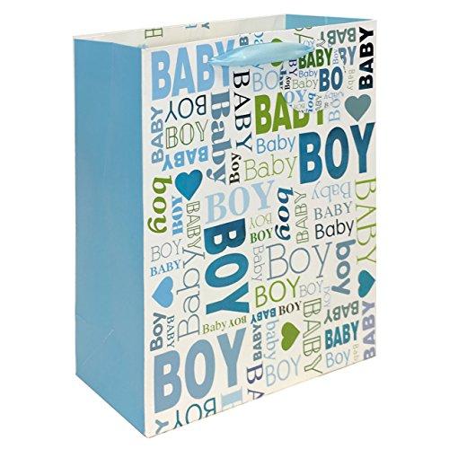 2 pc BabyShower & Birthday Premium Large Gift bags for Baby Boy ()