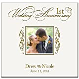 Personalized Mr & Mrs 1st Wedding Anniversary Gifts Photo Album Holds 200 4x6 Photos Wedding Gift Ideas Made By LifeSong Milestones