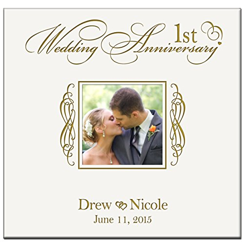 Personalized Mr & Mrs 1st Wedding Anniversary Gifts Photo Album Holds 200 4x6 Photos Wedding Gift Ideas Made By LifeSong Milestones by LifeSong Milestones