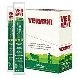 Vermont Smoke & Cure Meat Sticks, Beef & Pork, Antibiotic Free, Gluten Free, Original, 1oz Jerky Stick, 24 Count