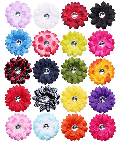 (Juvale Artificial Daisies 100-Pack Fake Flower Heads for Craft Decoration 20 Colors)