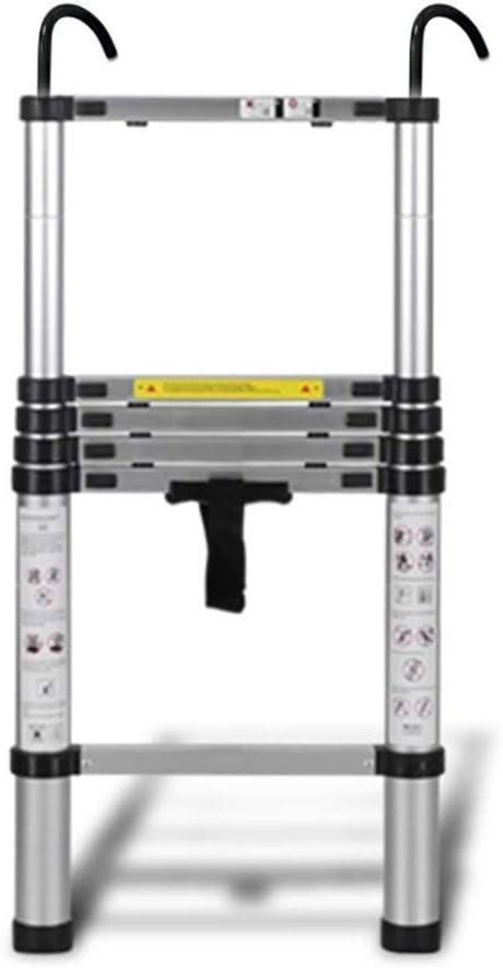 Escalera Telescópica Qiangmei, Aleación de Aluminio con Gancho Escalera Telescópica Multifuncional para Uso de Despacho en el Hogar, 9 tamaños (Tamaño: 4.4m / 14.4FT): Amazon.es: Hogar