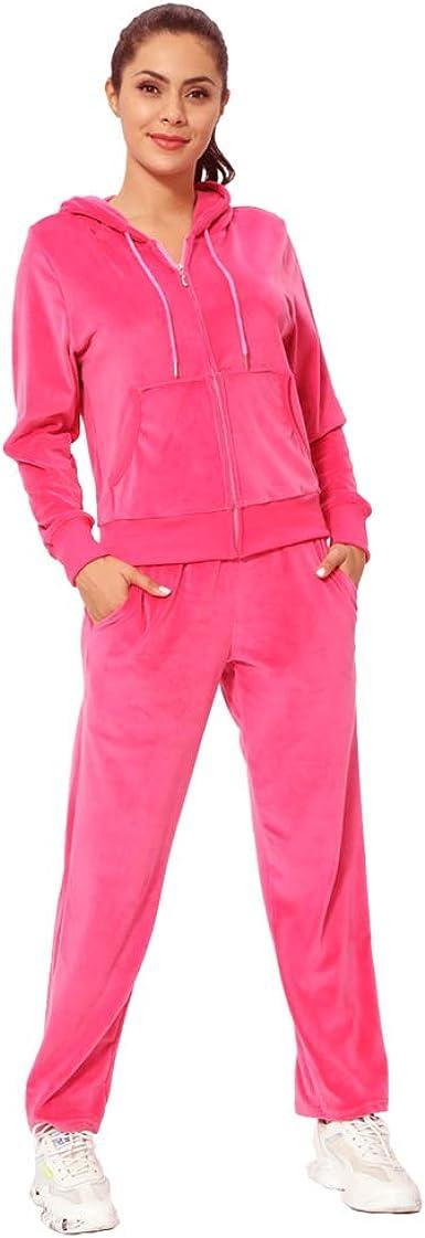 Women Hoodies Sweatshirt Pants Sets Velvet Tracksuit Jogging Gym Sport Suit BM