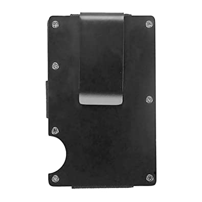 d3b0a536f5f316 Image Unavailable. Image not available for. Color: SODIAL(R) Men Stainless  Steel Elastic Band Slim Money Clip Credit Card Holder Wallet