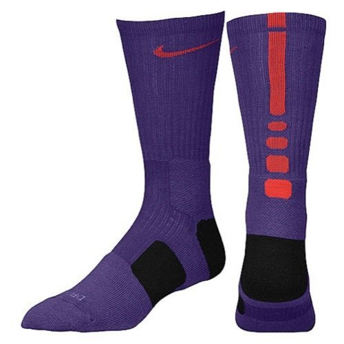 Nike Elite Basketball Socks Purple/ Red and Black Size M