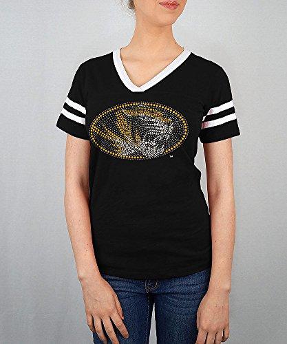 Missouri Ladies T-shirt - Elite Fan Shop Missouri Tigers Women's Tshirt Captain Black - L