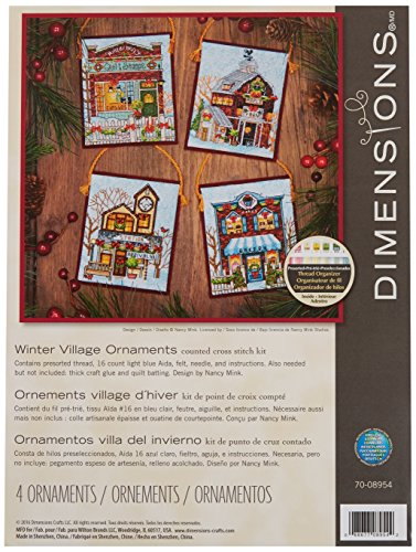 Dimensions Needlecrafts Dimensions Winter Village Ornaments