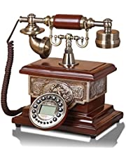 Wjvnbah Landline telephone Antique Telephone, Fashionable Home Retro Fixed Phone Handsfree Function 25x26x21.5cm (Color : #3)