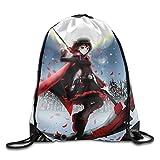 RWBY Drawstring Bag, Drawstring Backpack, Sport Bag, Gymsack, Sackpack, Shoulder Bags For Men Women Teenager Juvenile Adolescent, Size: 17 Inch X 14 Inch