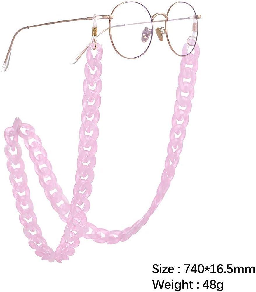 fishhook amo da pesca Catena per occhiali Occhiali da vista retro in acrilico Occhiali da sole Occhiali da lettura Cinturino Custode Cordino Collana per donna Uomo rosa