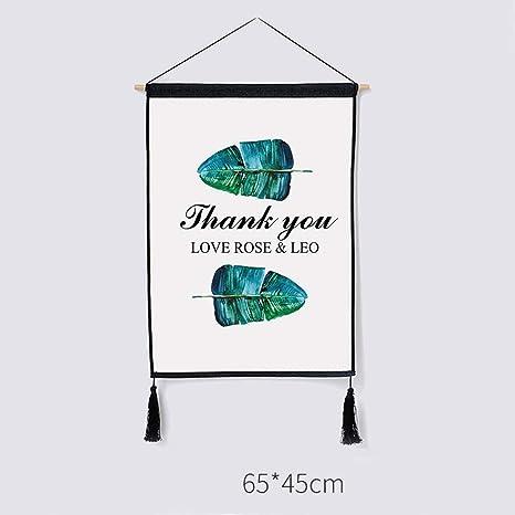 Decorazione Decorativa della Parete della Tela Cerata della Pittura della tappezzeria guarnita tricottata Ampia 45CM Alto 65CM Colore : U LIMING-arazzo Tapestry