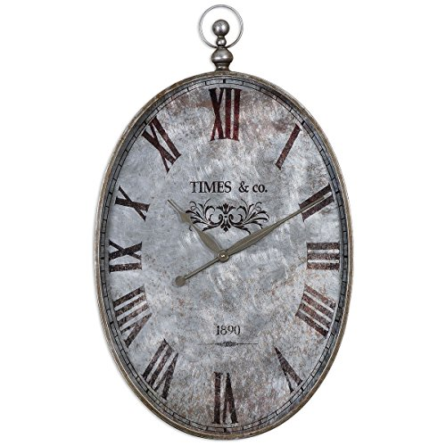 Uttermost 06642 Argento Antique Wall Clock