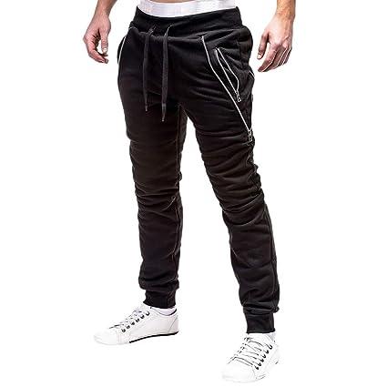 Pantalones de Hombre Casuals Chino Deporte Joggers Pants Algodón Slim Fit Jeans Cargo Trouser Sonnena hombre
