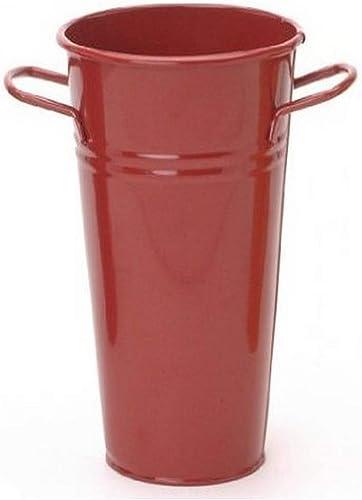 Houston International 8295E XR 6.5-Inch Steel Vase, Red