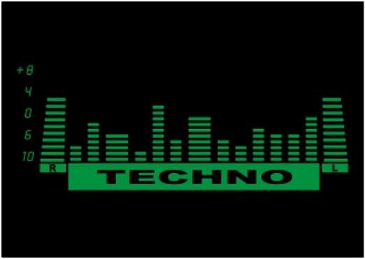 Teeburon Techno Equalizer Pack de Pegatinas x4: Amazon.es: Hogar