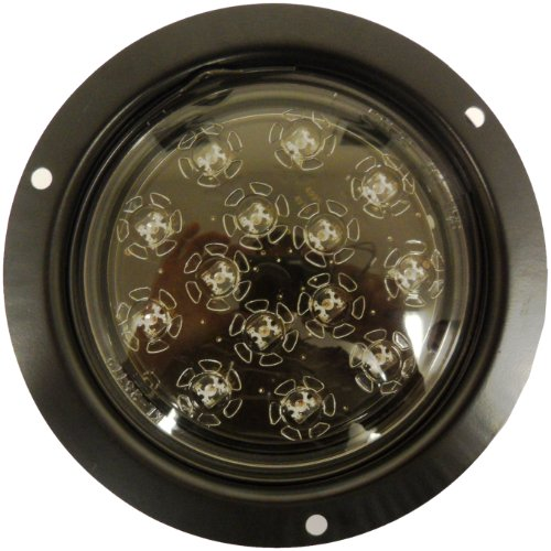 AutoSmart KL-25105C-R Red Flush-Mount LED Stop/Turn/Tail Light with Clear Lens (Tail Retainer Light)