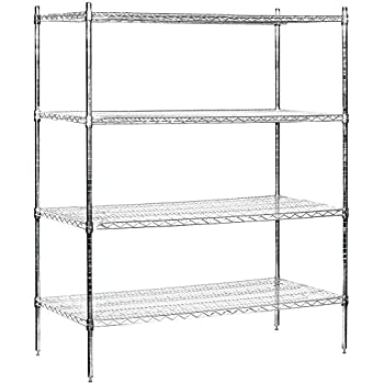 Amazon Com Salsbury Industries Stationary Wire Shelving