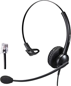 Telephone Headset with Noise Cancelling Microphone & HIS Cable for Avaya IP 1608 1616 9601 9608 9611 9611G 9620 9621 9630 9631 9640 9641 9650 9670 J139