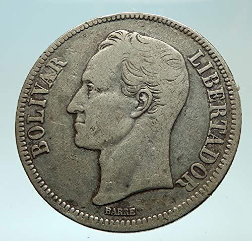 1921 unknown 1921 Freemason President Simon Bolivar VENEZUELA coin Good Uncertified