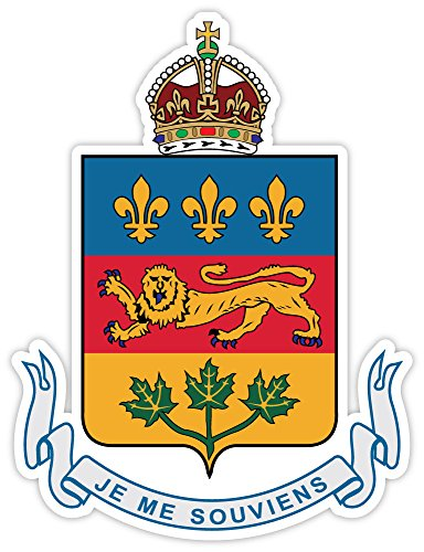 Quebec Canada province coat of arms sticker decal 4