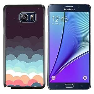 Caucho caso de Shell duro de la cubierta de accesorios de protección BY RAYDREAMMM - Samsung Galaxy Note 5 5th N9200 - Hermoso Pastel Nubes minimalista