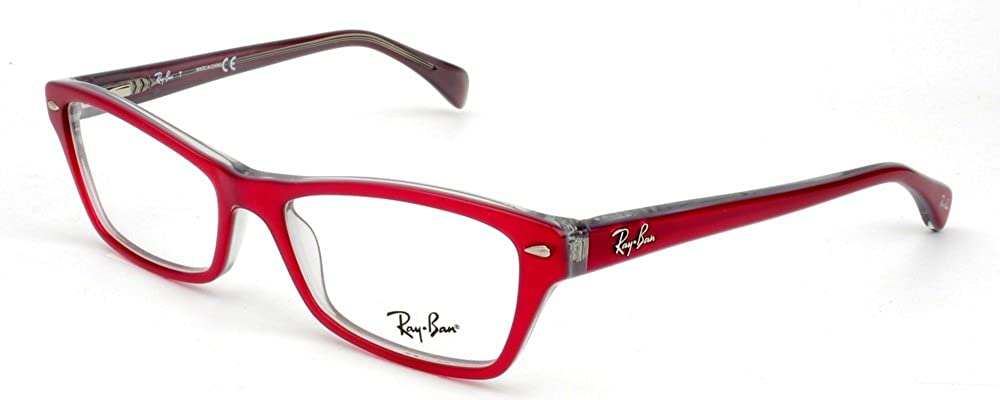 25d0441761 Amazon.com  Ray-Ban RX5256 Eyeglasses-5189 Red Gray-52mm  Shoes