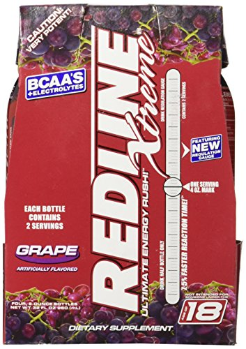 VPX Redline Xtreme RTD, Grape, 8 Ounce (24 Bottles) (Best Energy Drink For Gym)