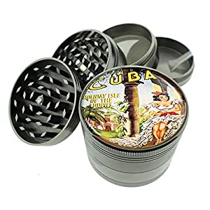 "Titanium 4 PC Magnetic Grinder 2.1"" Hand Mueller D-040 Cuba - Holiday Isle of the Tropics"" Vintage Travel"