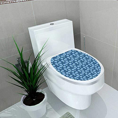 (Analisa A. Houk Toilet Sticker Garden Far Sakura Tree Twigs Details Bedding Plants Blue White Home Decor Applique Papers W14 x L14)